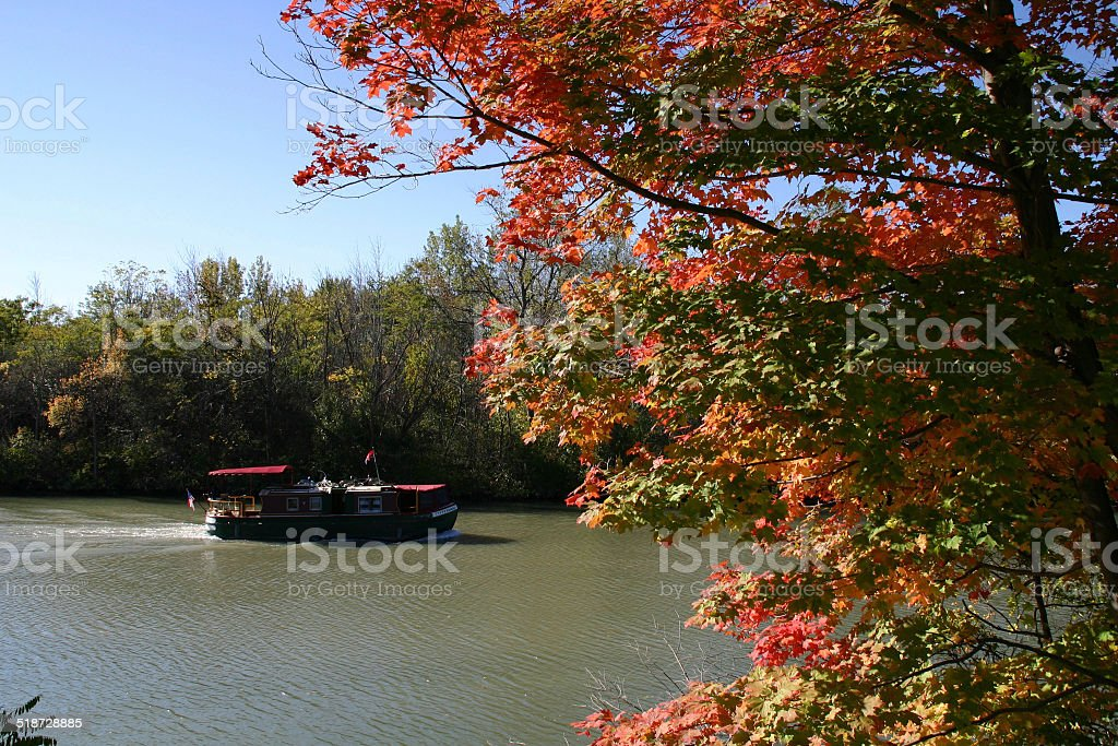 Boating on the Erie Canal stock photo
