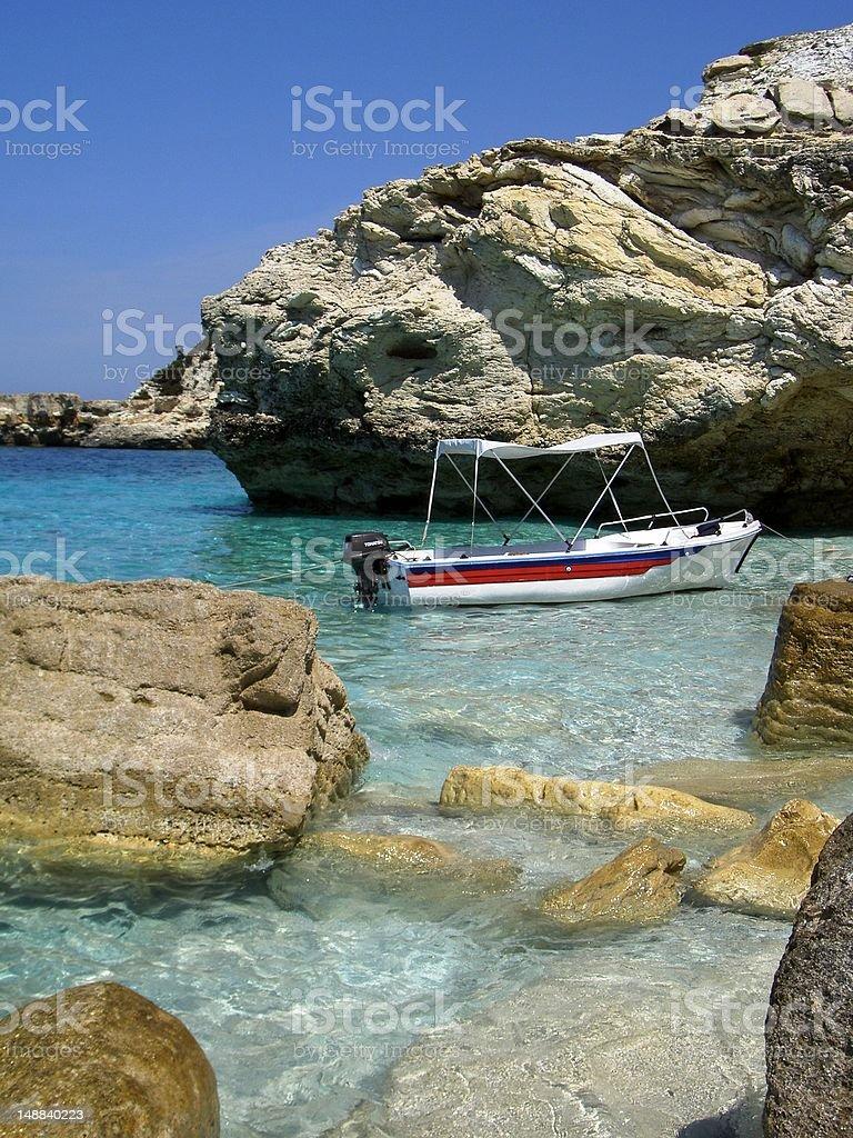 Катание на лодке на Средиземное море Стоковые фото Стоковая фотография