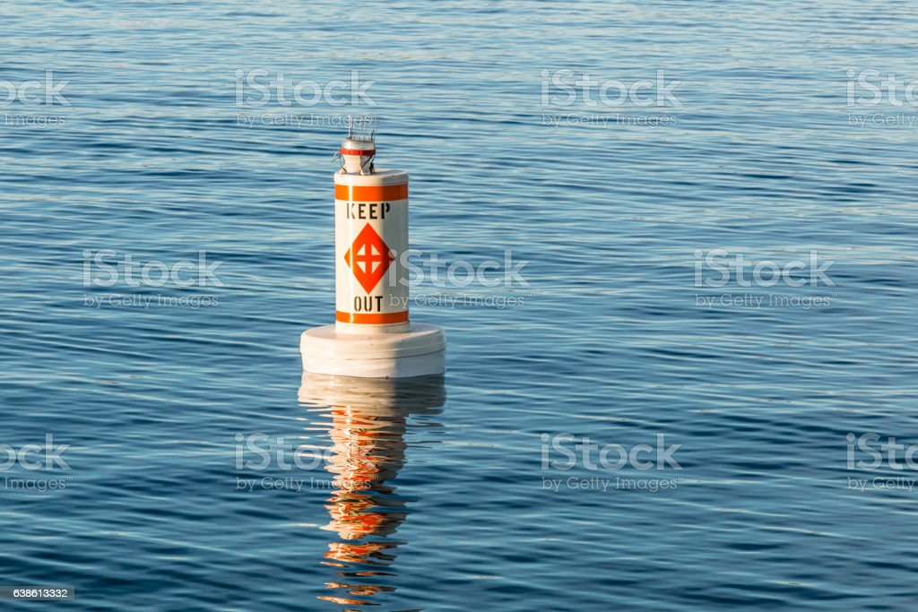Boating Regulatory Marker stock photo
