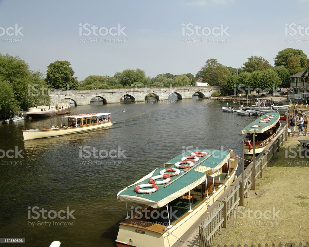 Boating Scene, Stratford upon Avon royalty-free stock photo