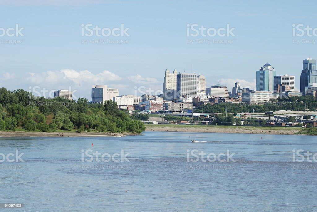 Boating the Missouri River: Summer Fun royalty-free stock photo