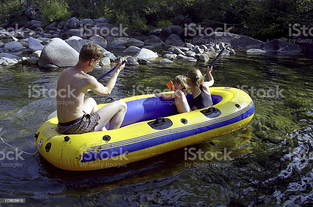 Boating with the family royalty-free stock photo