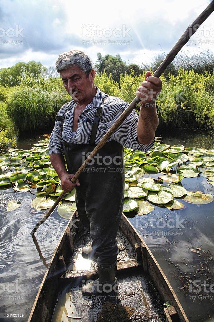 Boatman royalty-free stock photo