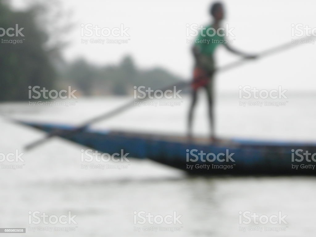 Boatman stock photo