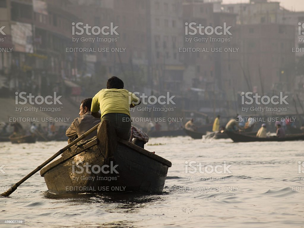 Boatmen in Sadarghat struggling for a better life stock photo