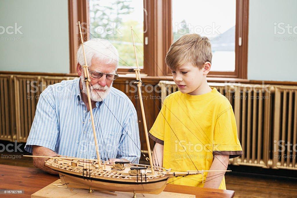 Boatr building school stock photo