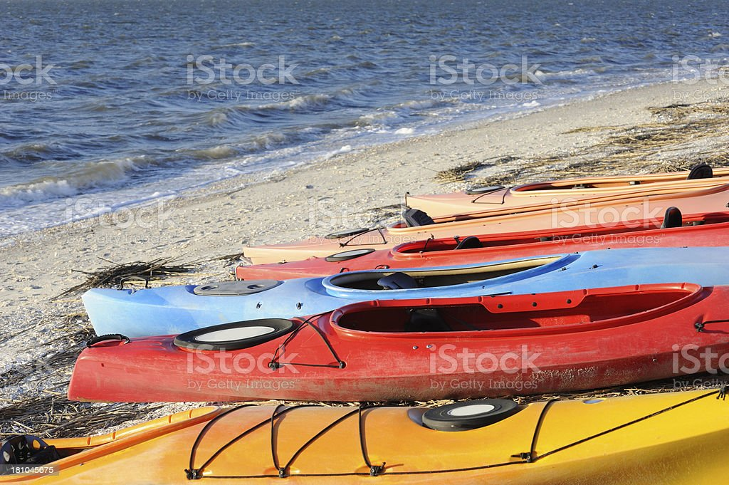 Boats and Beach royalty-free stock photo