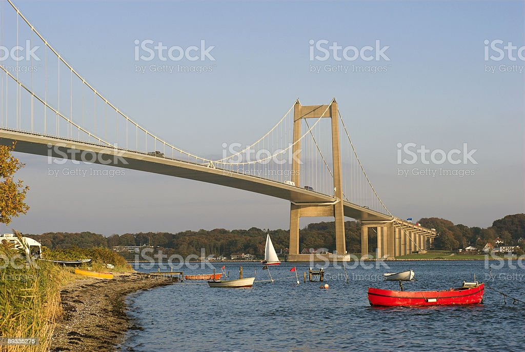 Boats and Bridge royalty-free stock photo