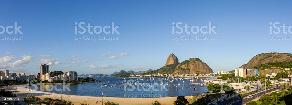 Barcos e enseada de Botafogo stock photo