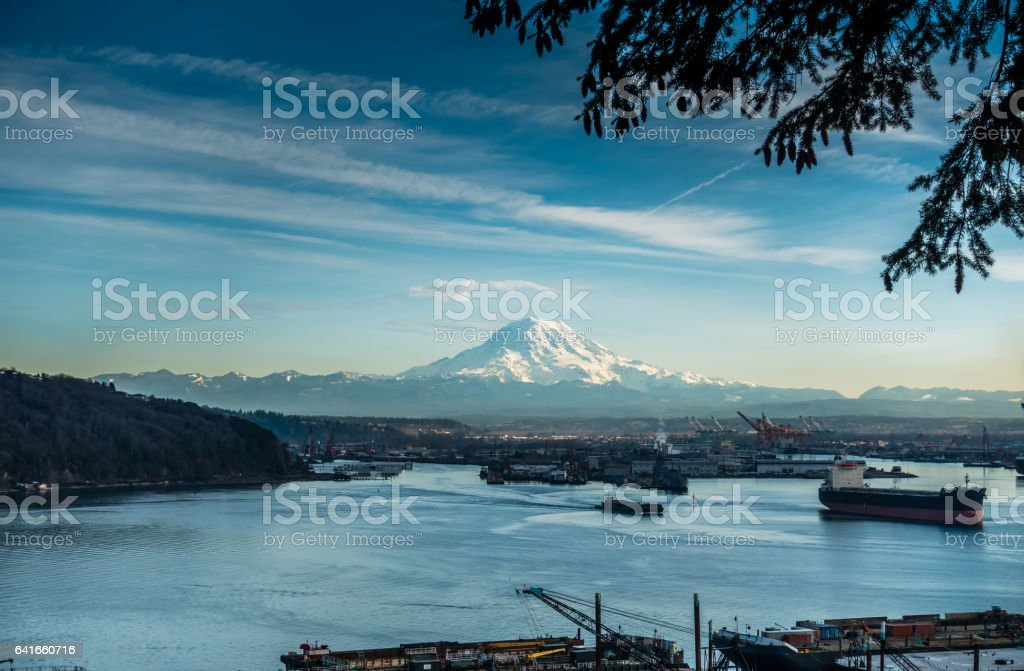 Boats And Peak stock photo