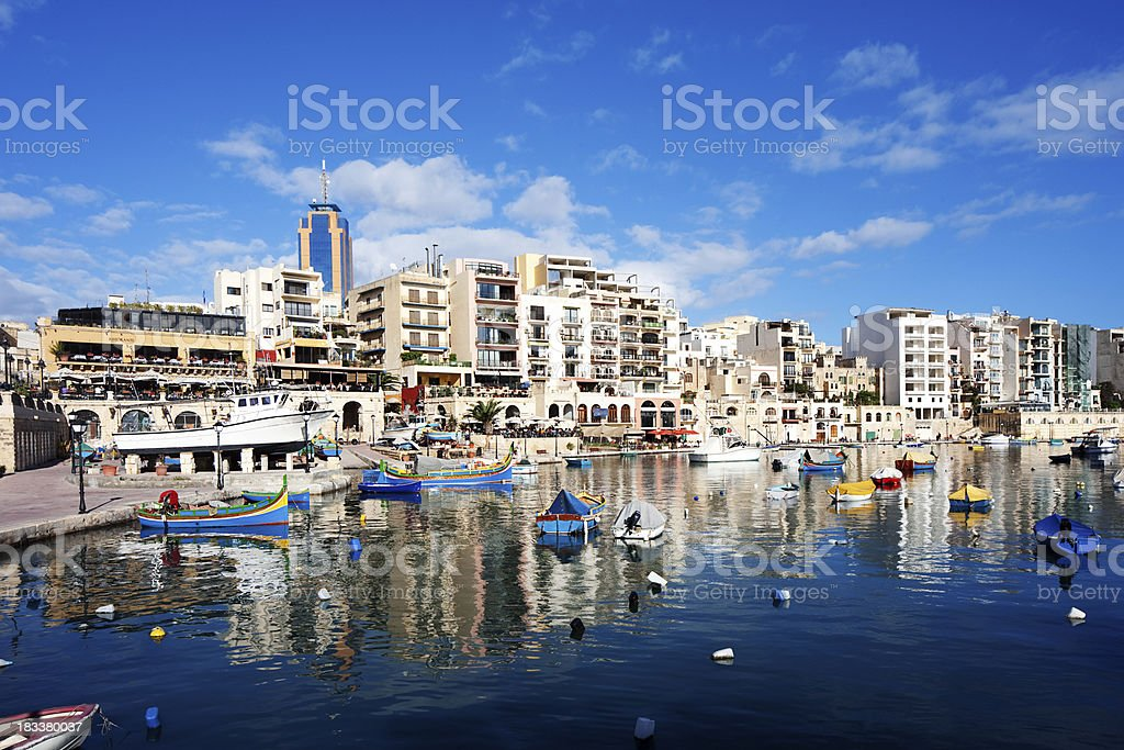 Boats and yachts in Malta stock photo