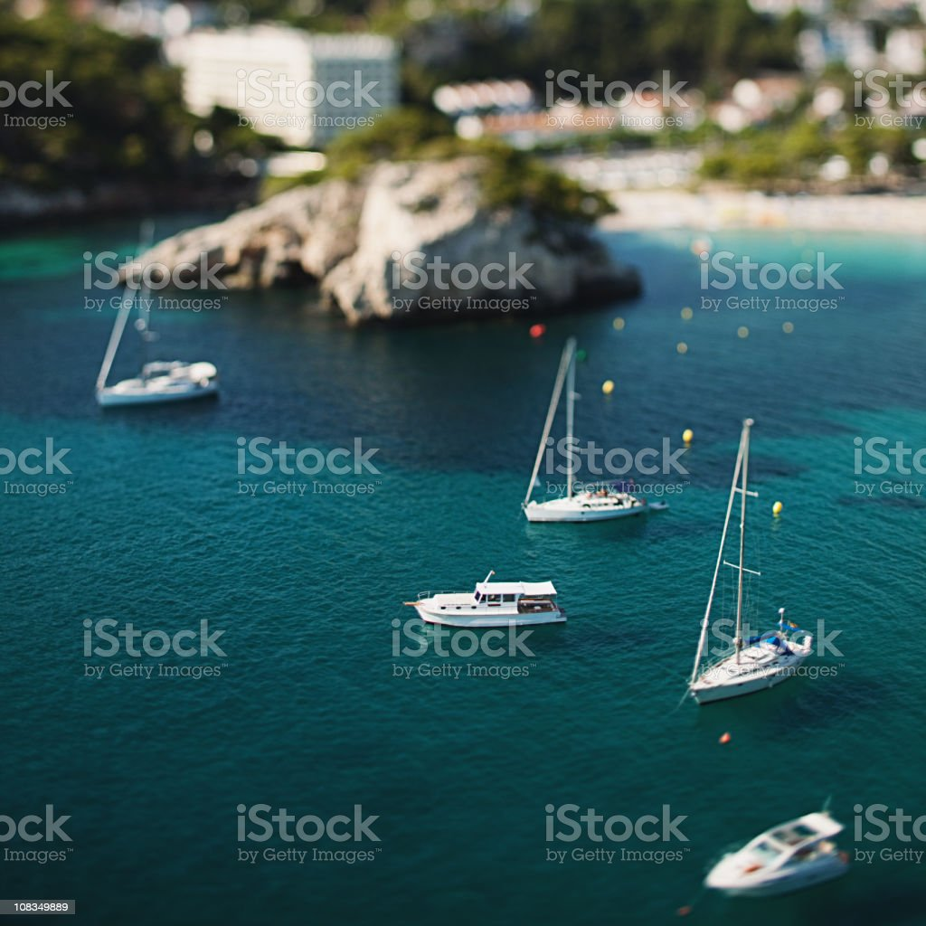 Boats and yachts in Menorca royalty-free stock photo