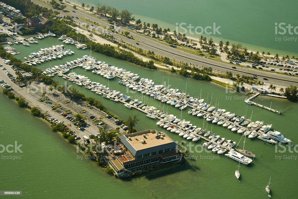 Boats at a marina royalty-free stock photo