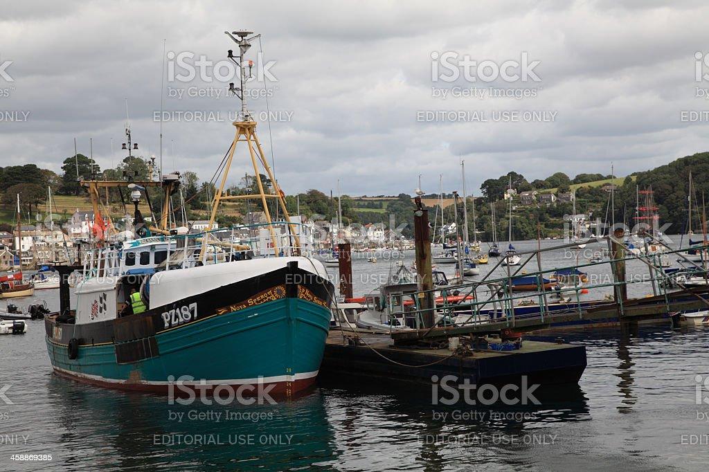 Boats at anchor stock photo