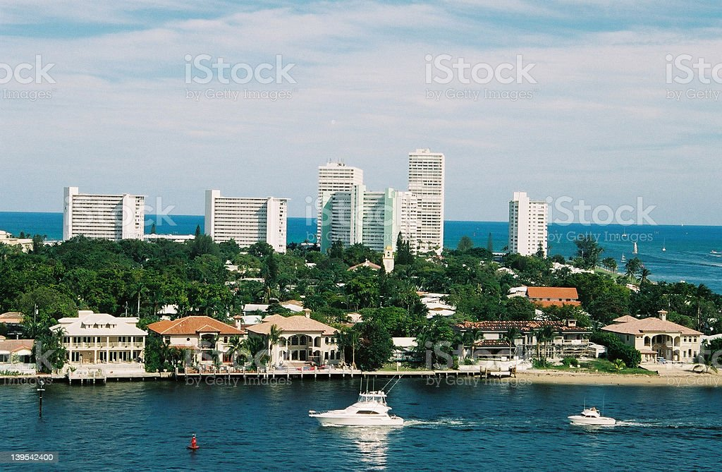 Boats at Ft Lauderdale stock photo