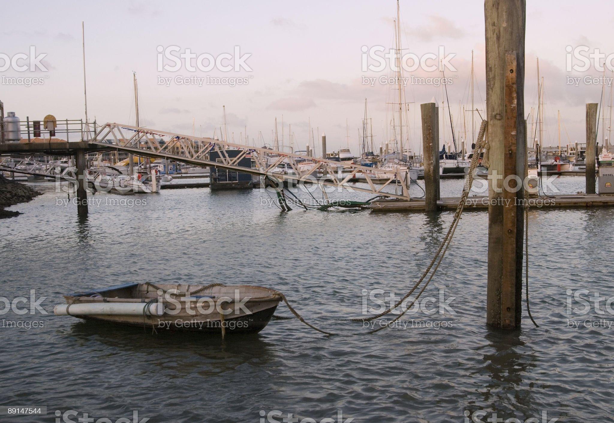 Boats at Hervey Bay, Australia royalty-free stock photo
