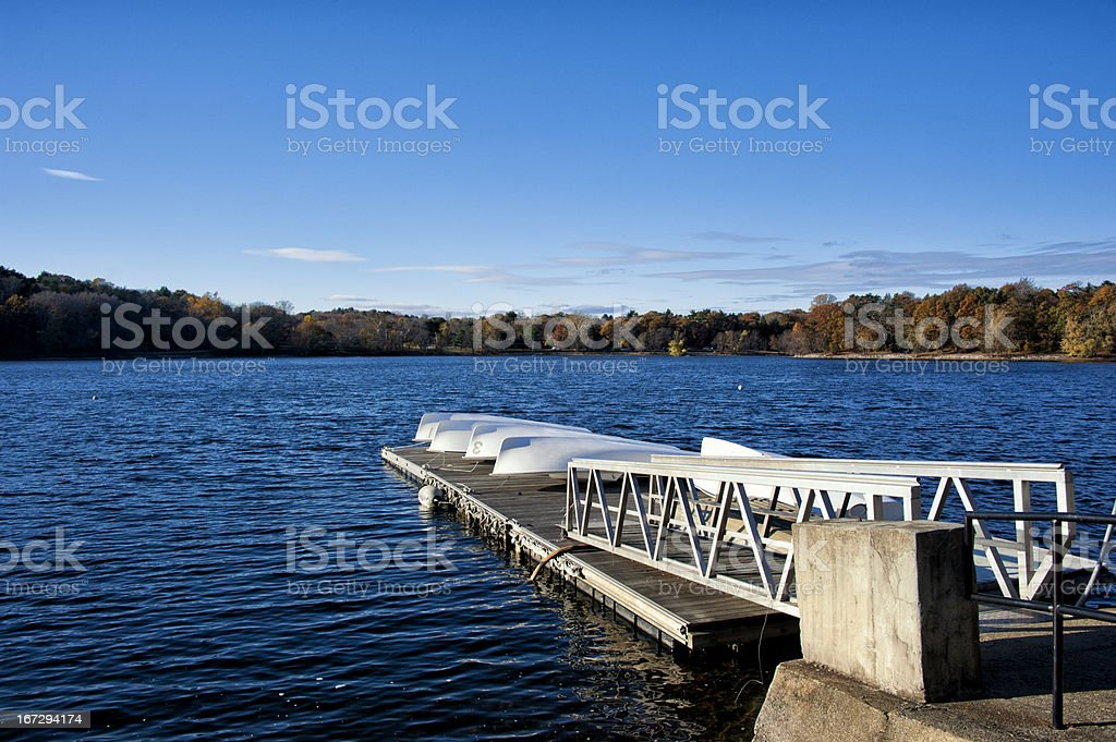 Boats at Jamiaca Pond royalty-free stock photo