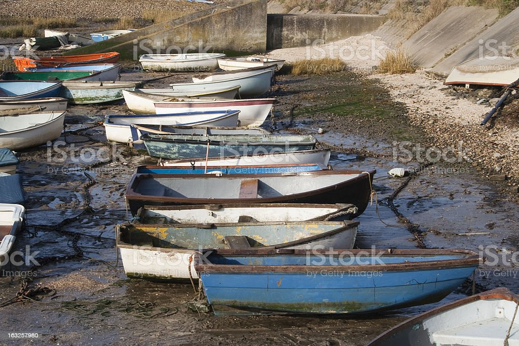 Boats at Leigh-on-Sea, Essex, England royalty-free stock photo