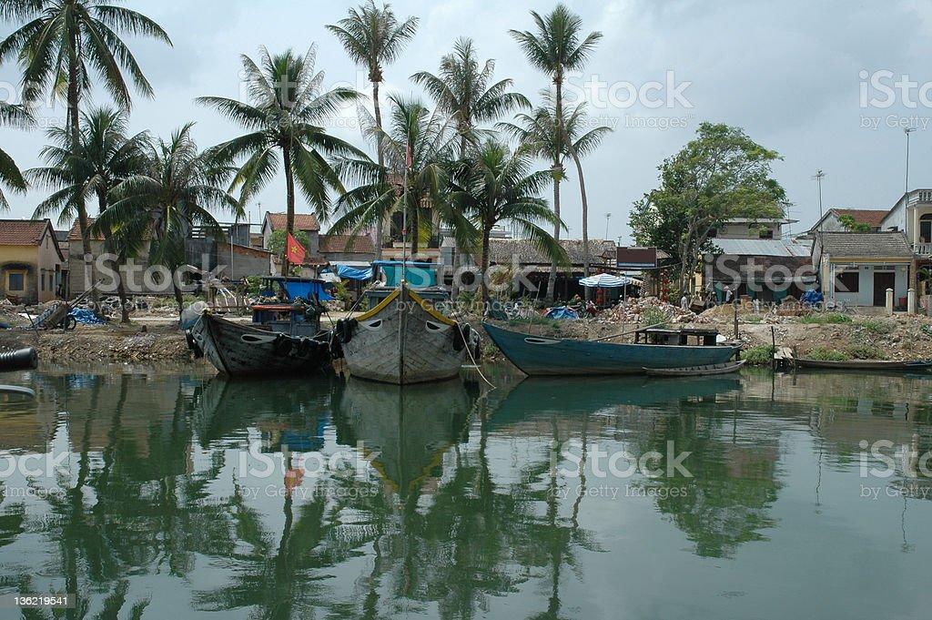 Boats at Moi Ne stock photo