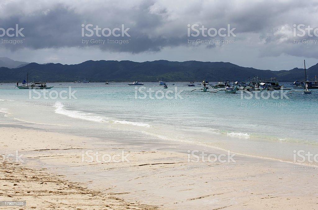 Boats at ocean royalty-free stock photo