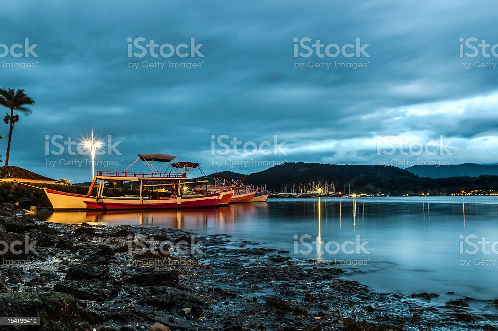Boats at Parati royalty-free stock photo