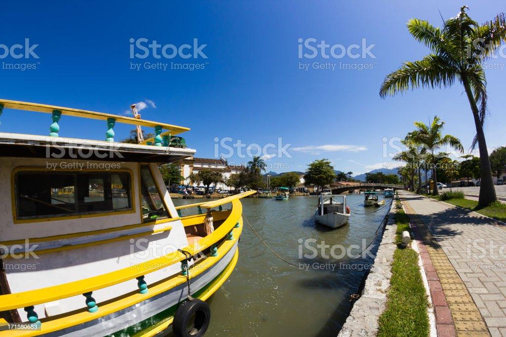 Boats at Paraty royalty-free stock photo