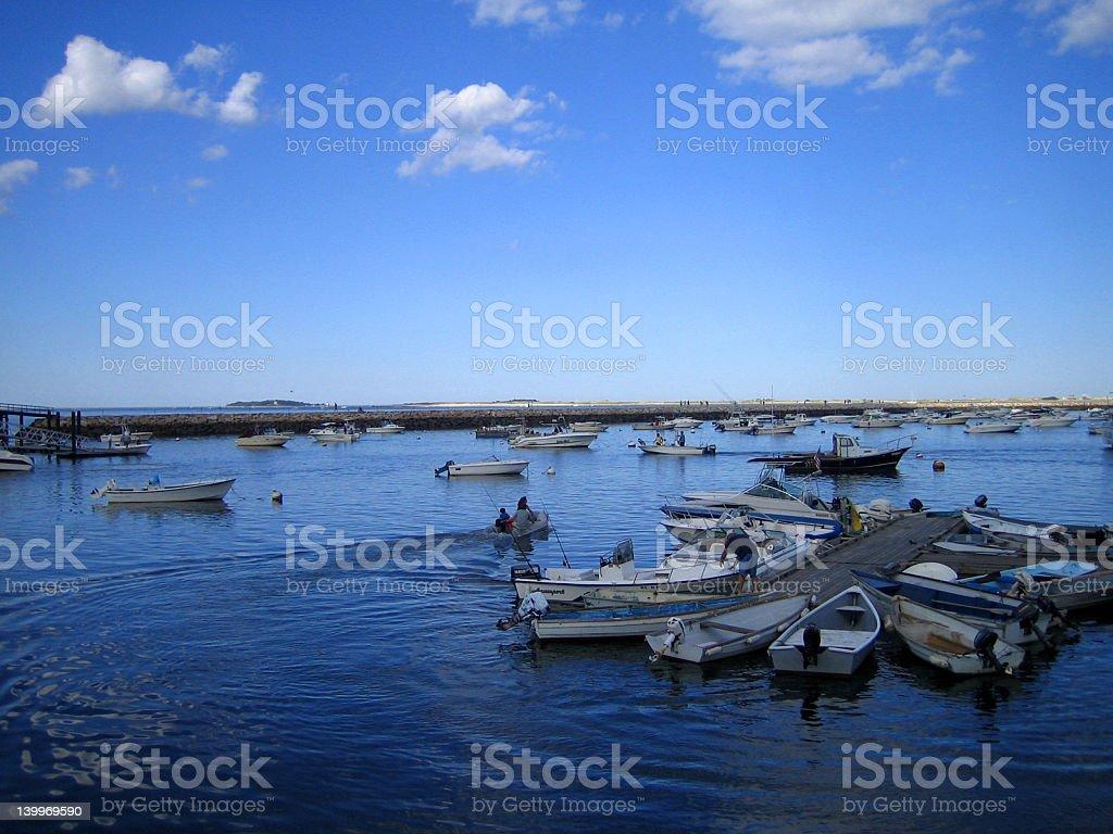 Boats at Plymouth royalty-free stock photo