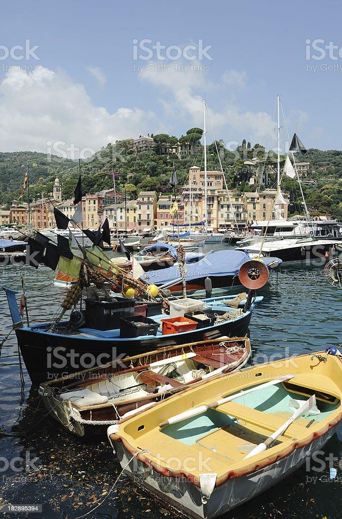 Boats at Portofino royalty-free stock photo