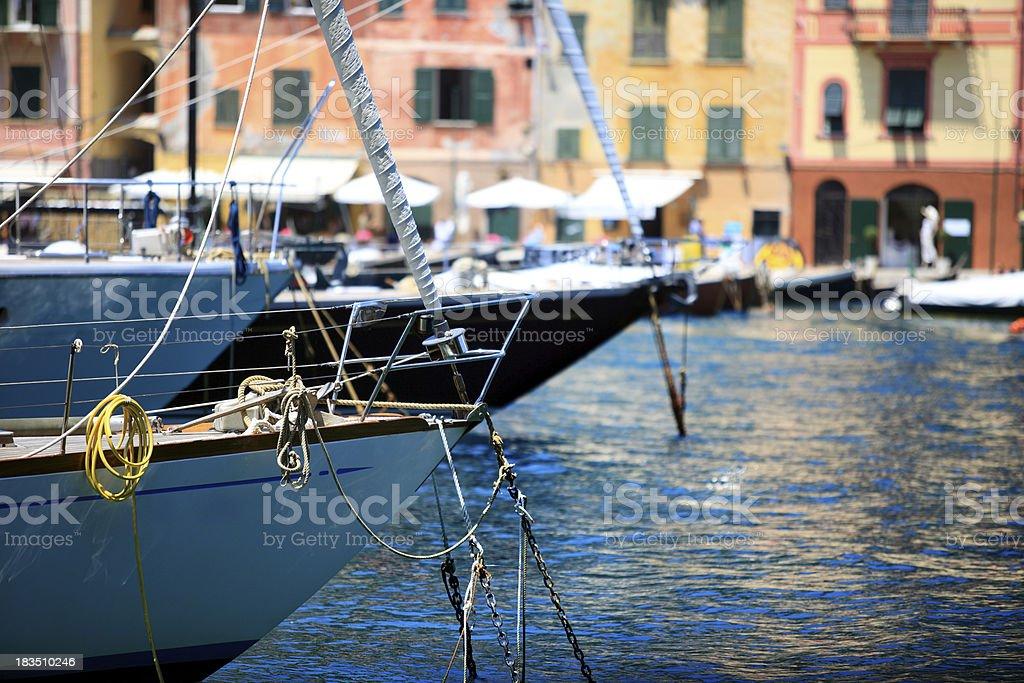 Boats at Portofino stock photo