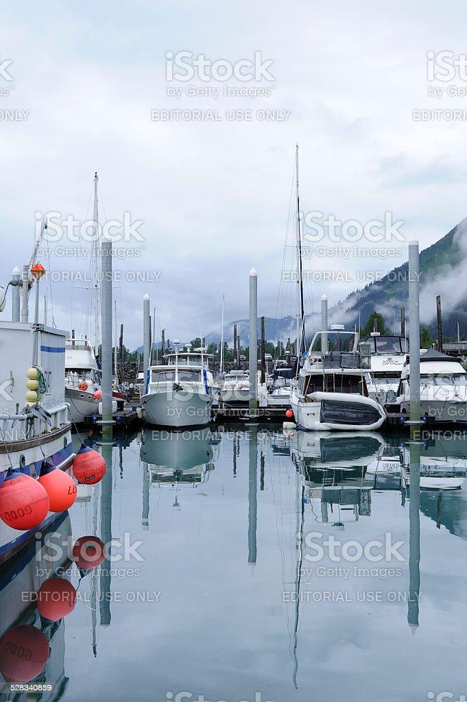 Boats at Seward of Alaska stock photo