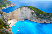 Boats At Shipwreck Beach, Zakynthos