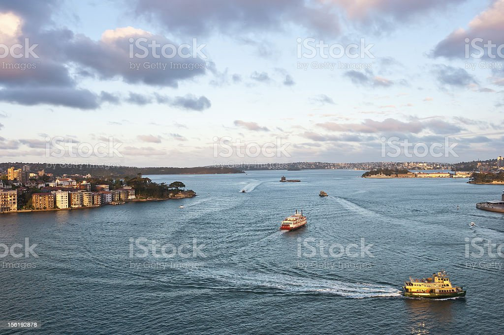 Boats at Sydney's Harbour, Australia royalty-free stock photo