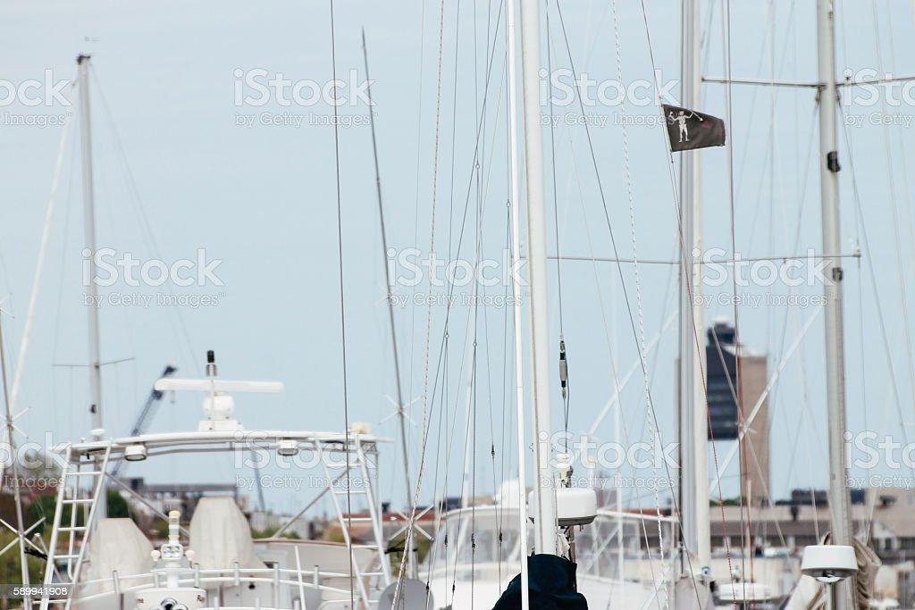 Boats at the docks stock photo