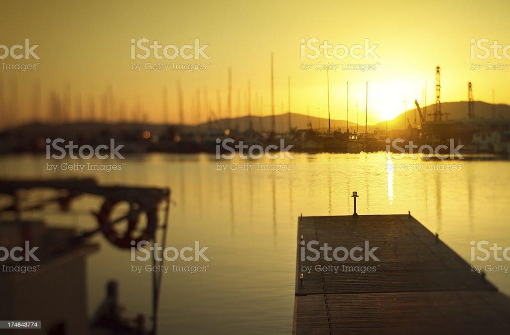 Boats at the Harbor of Alghero, Sardinia, Italy stock photo