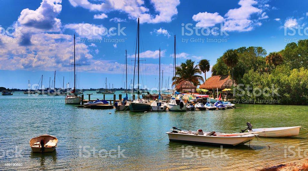 Boats at the Marina stock photo