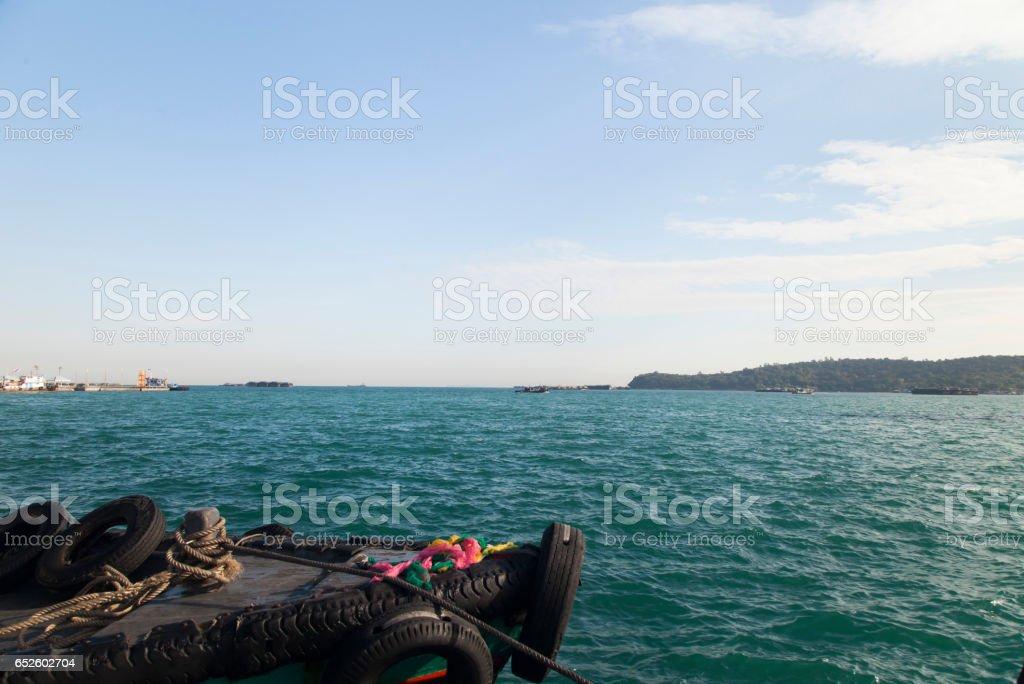 Boats at the mooring stock photo