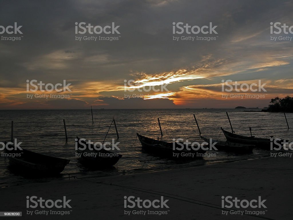 Boats by the Seaside - Fishermen's Catch royalty-free stock photo
