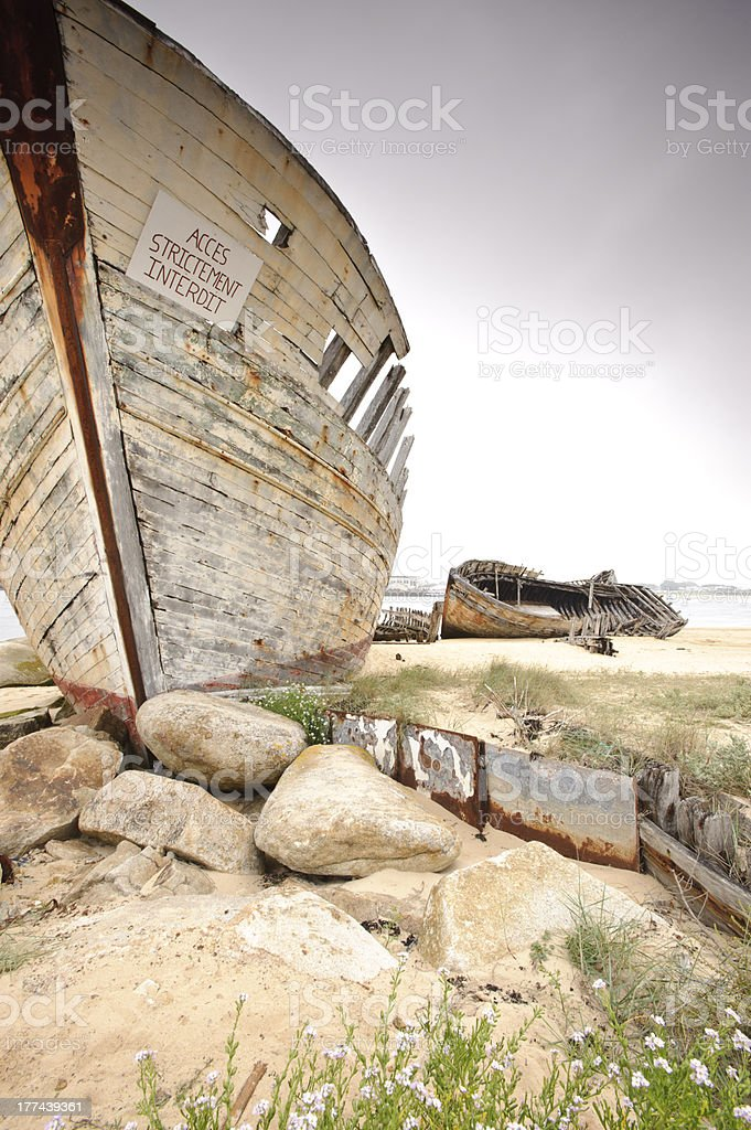 boats cemetry royalty-free stock photo