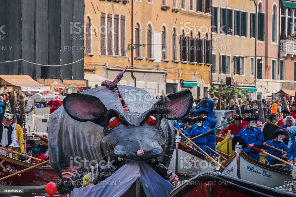 Boats decorated for the Venetian Festival on the Water stock photo