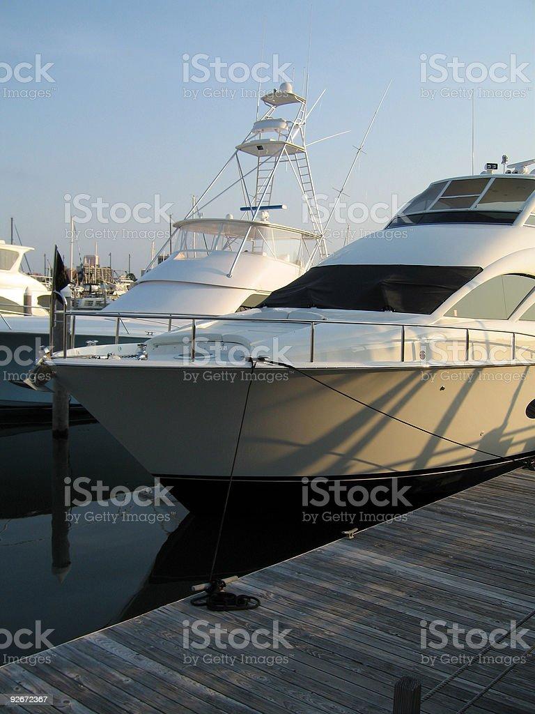 Boats Docked at Pier royalty-free stock photo