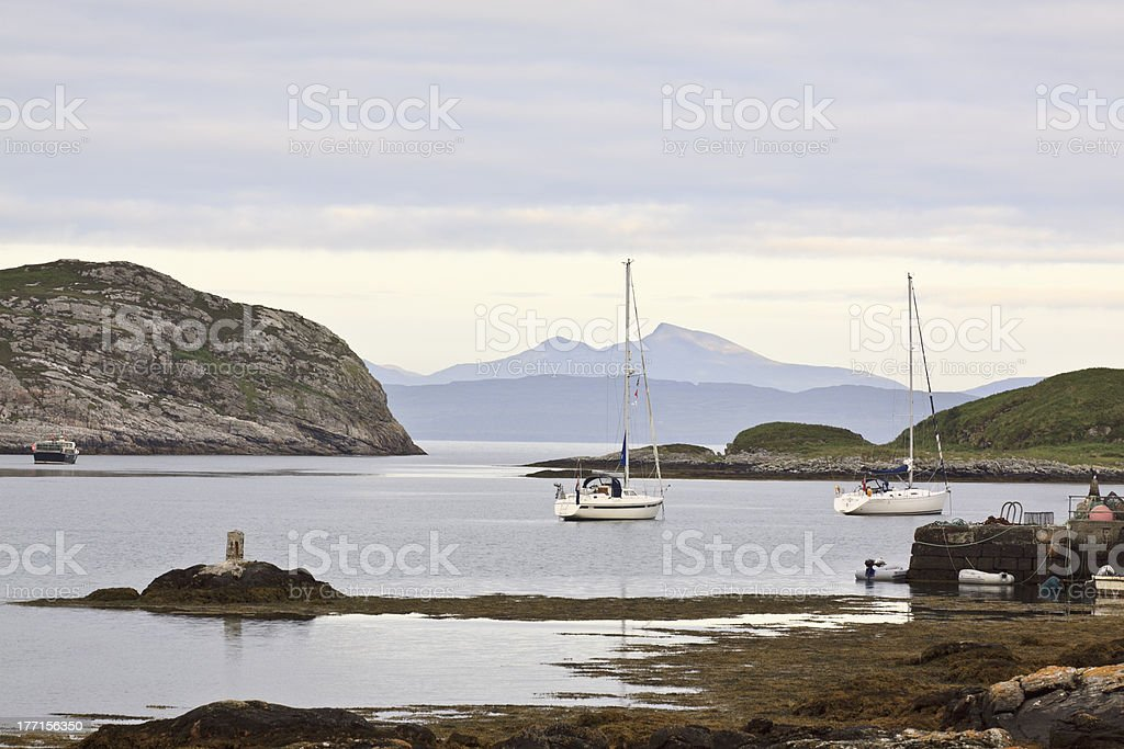 Boats in a harbour royalty-free stock photo