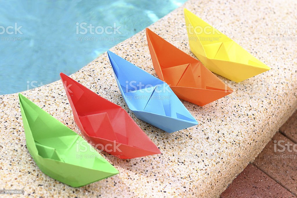 Boats in a row royalty-free stock photo