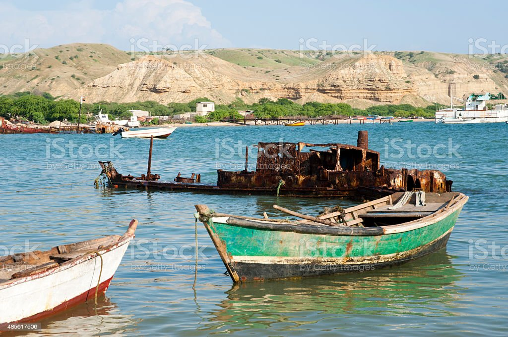 Boats in Africa stock photo