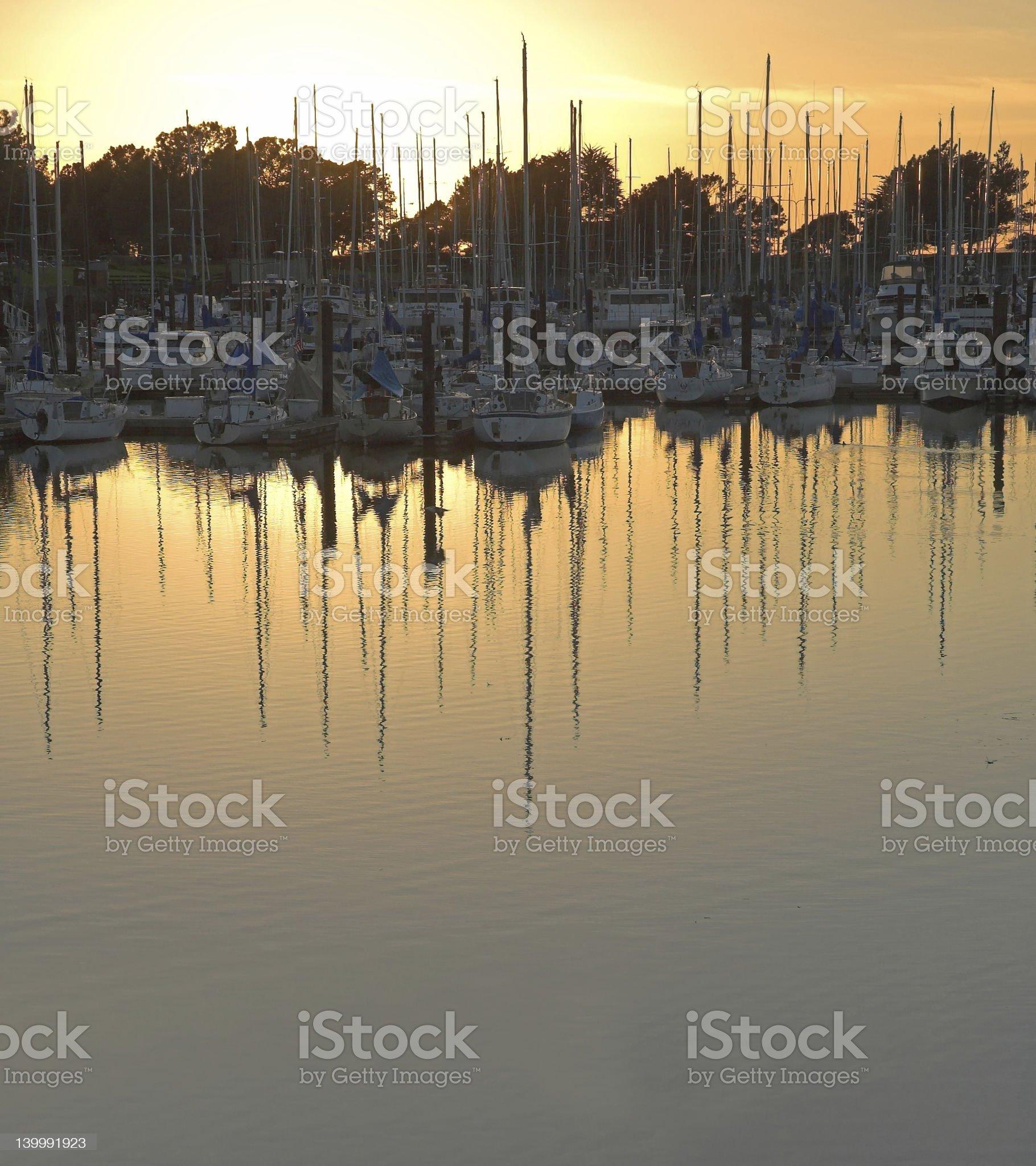 Boats in Berkeley Marina royalty-free stock photo