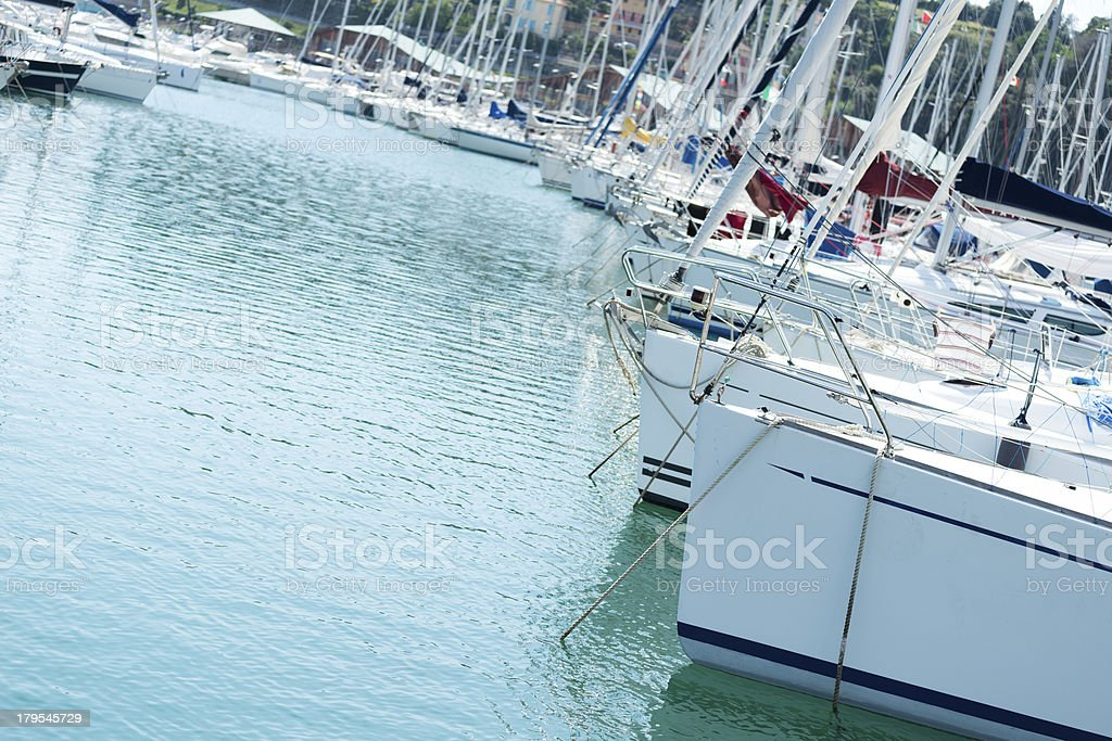 Boats in dock royalty-free stock photo