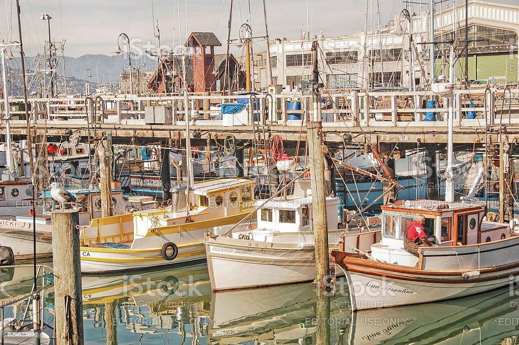 Boats in Harbor - San Francisco stock photo