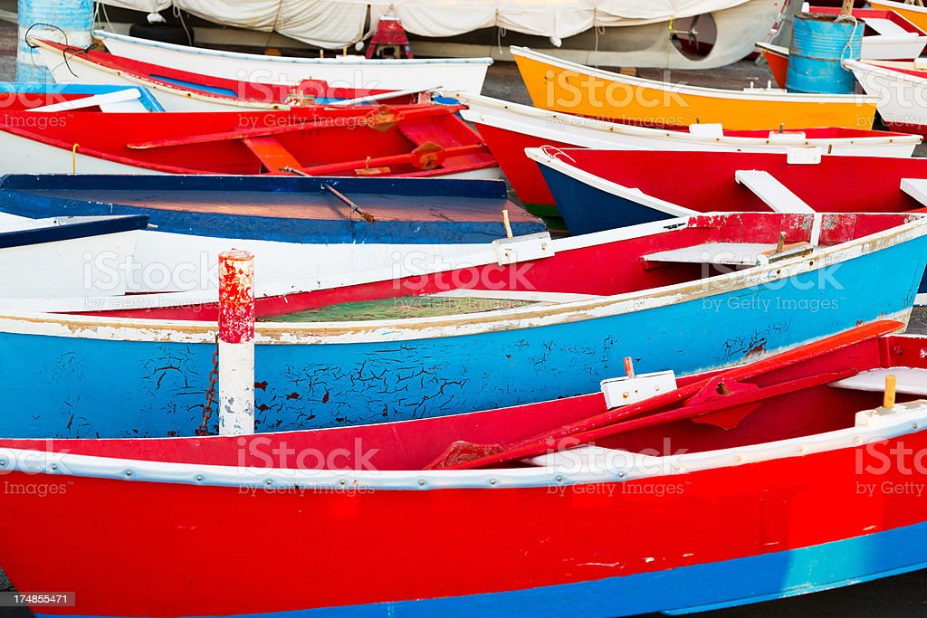 Boats in harbour on the island of La Gomera stock photo