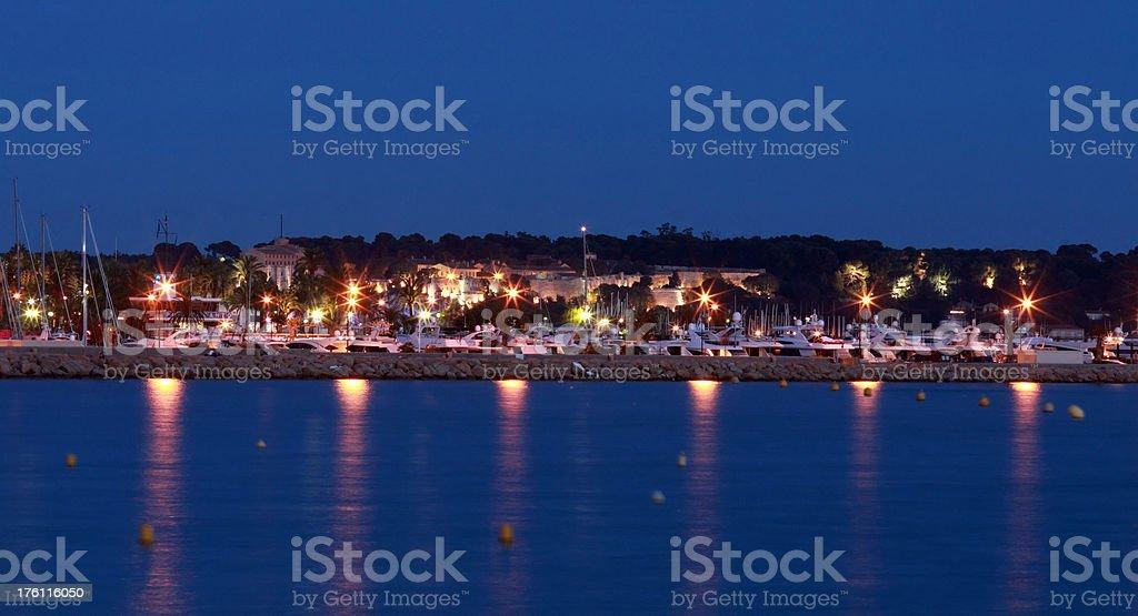 Boats in Marina at dusk royalty-free stock photo