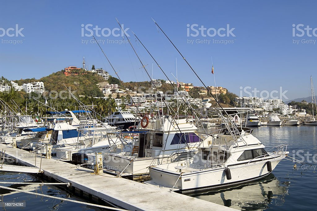 Boats in Marina, Mexico stock photo