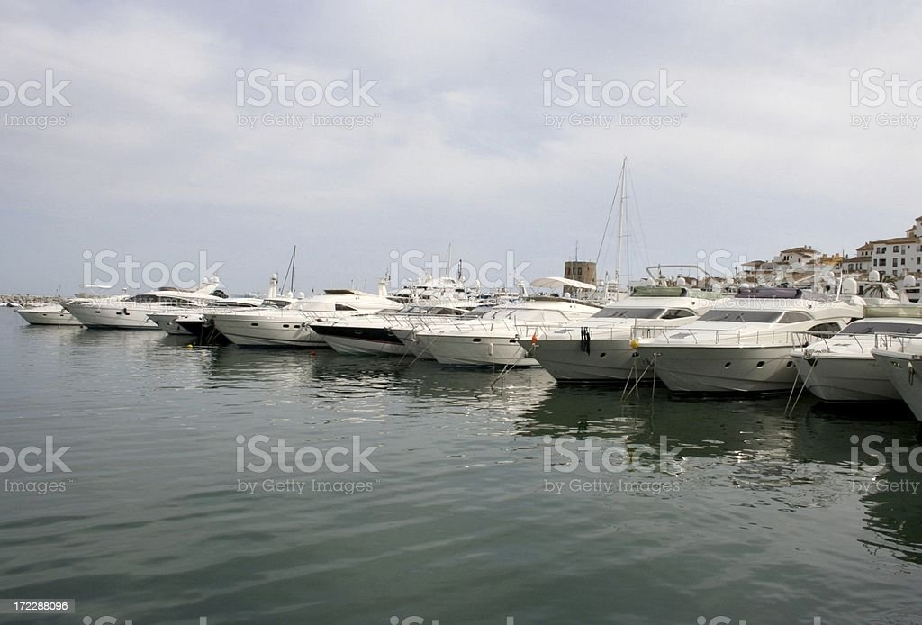 Boats in marina royalty-free stock photo